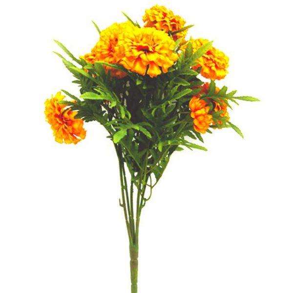 orange artificial marigold flowers