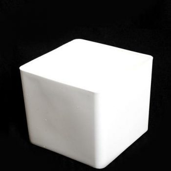 White Cube Plastic Planter