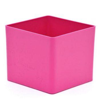 PInk Cube Plastic Planter