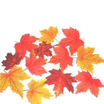 artificial autumn maple leaves