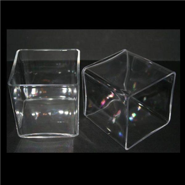 Clear Acrylic Cube Vase (10cm)