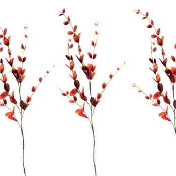 Artificial Autumn Lonicera Spray - Terracotta