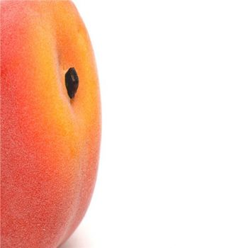 8cm artificial peach fruit with textured surface