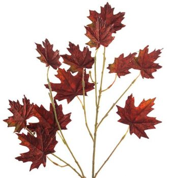 Artificial Maple Branch - Red