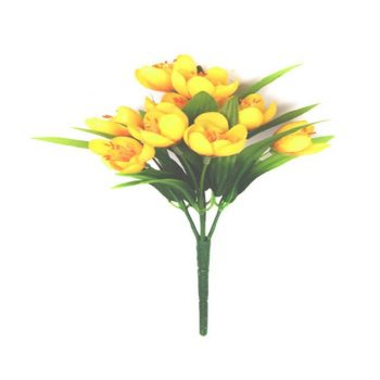 Artificial Yellow Crocus Bush