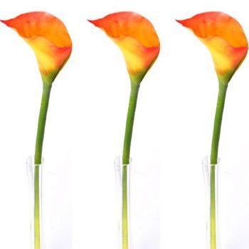Artificial Orange Calla Lily Stem