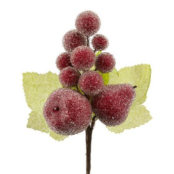 Artificial Frosted Fruit Berry Pick
