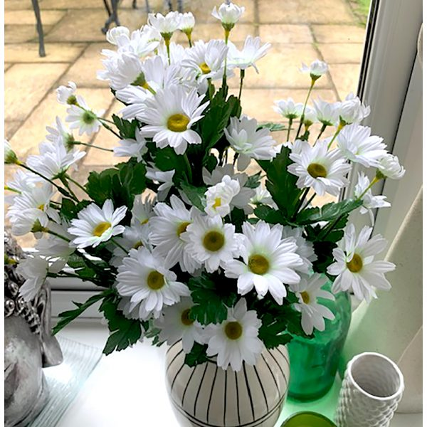 Artificial White Daisy Bush
