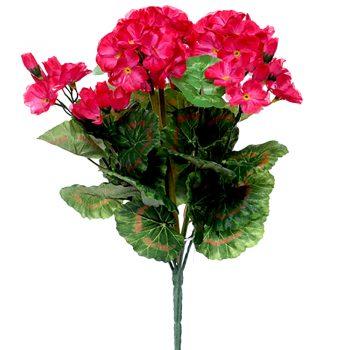 Artificial Cerise Pink Geranium Plant