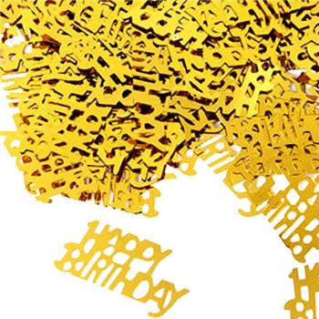Gold Happy Birthday Party Confetti