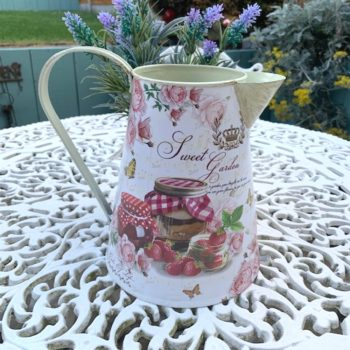 Sweet Garden Metal Jug