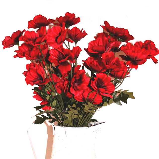 45cm artificial red poppy flower arrangement x10 decorative silk red artificial poppies in a white pot 45cm artificial poppies flower stems mightylinksfo