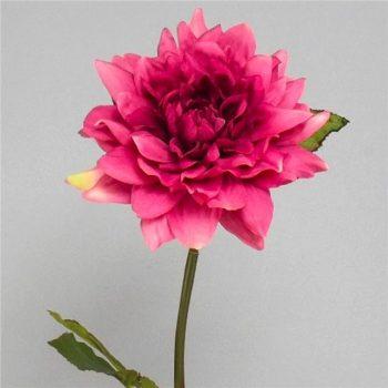 Artificial Blush Pink Dahlia Flower Stem