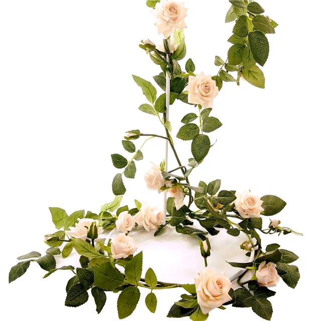 Artificial silk wedding flowers garlands shelf edge 6ft artificial english rose garland ivory mightylinksfo