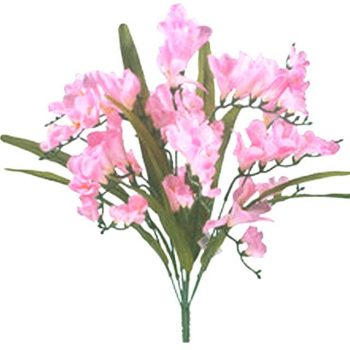 artificial pink freesia bush