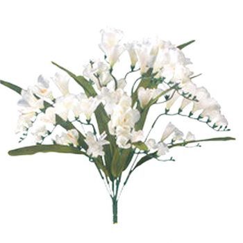cream artificial freesia