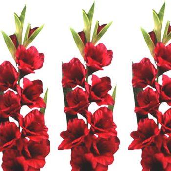 Artificial Red Gladiolus Spray