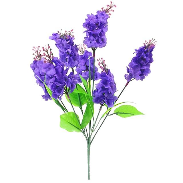 Artificial Silk Lilac Flower Bush Purple