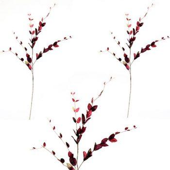 Artificial Lonicera Leaf Spray - Burgundy