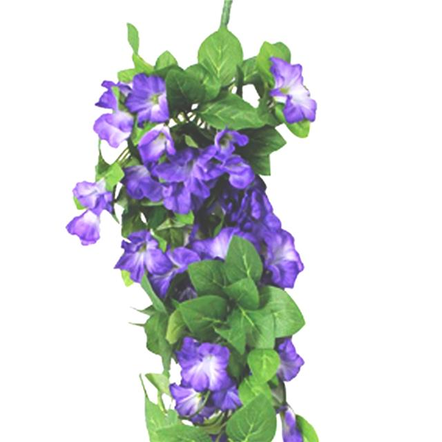 Artificial Morning Glory Trailing Spray Purple Shelf