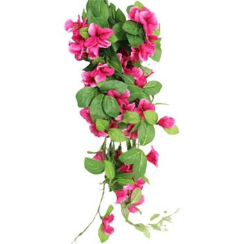 Artificial Hot Pink Morning Glory Trailing Plant