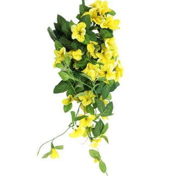 Artificial Yellow Morning Glory Trailing Spray