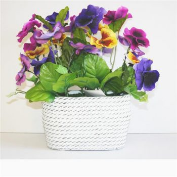artificial-pansies-in-ceramic-vase