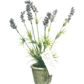 artificial lavender potted gift