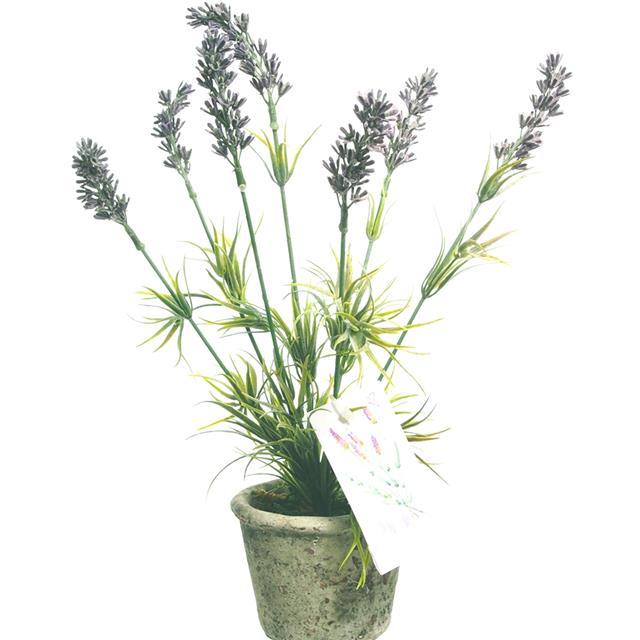 28cm Artificial Potted Lavender Plant Shelf Edge