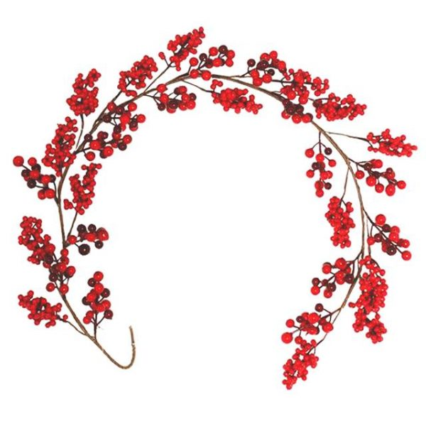 Artificial Red Berry Cluster Garland