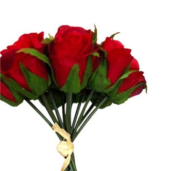 artificial roses bundle red