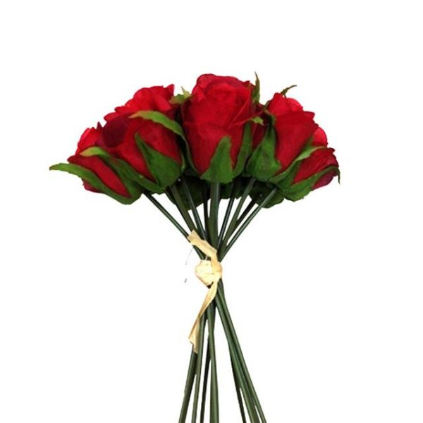 red artificial roses bundle