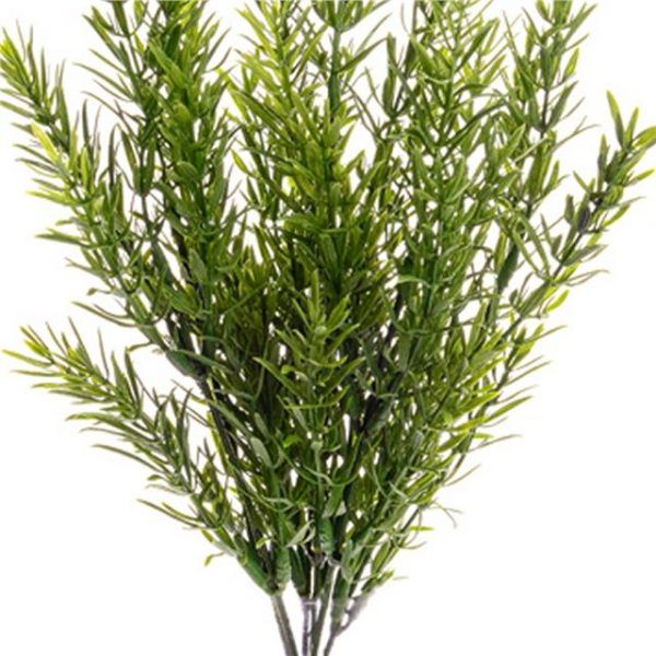 artificial rosemary bush with green foliage