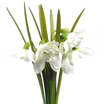 silk artificial snowdrops