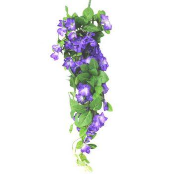 Artificial Purple Morning Glory Trailing Spray