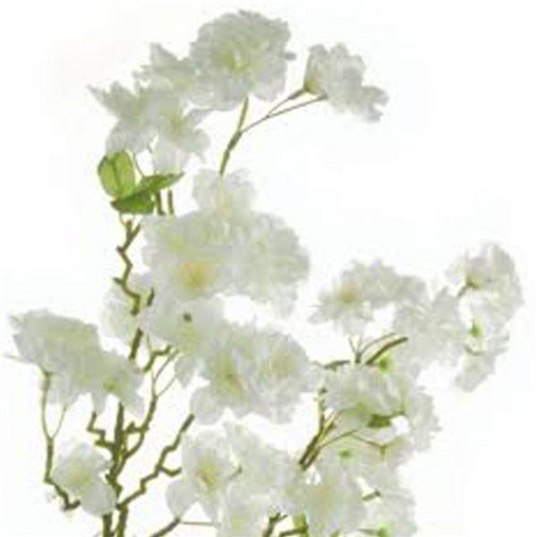 artificial white cherry blossom flowers