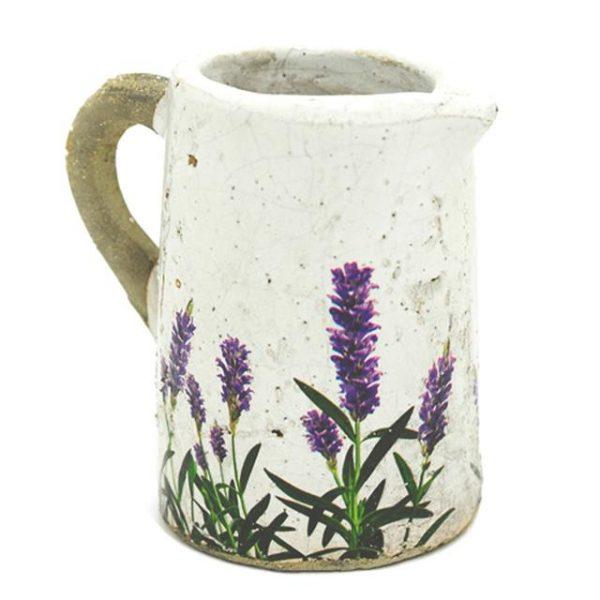 decorative artificial lavender planting jug