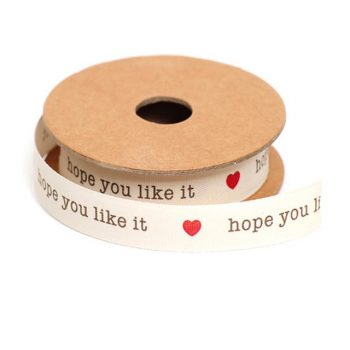 Hope You Like It Ribbon With Red Heart Design