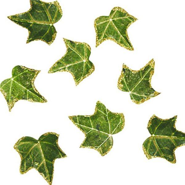 Glitter Edged Ivy Leaves