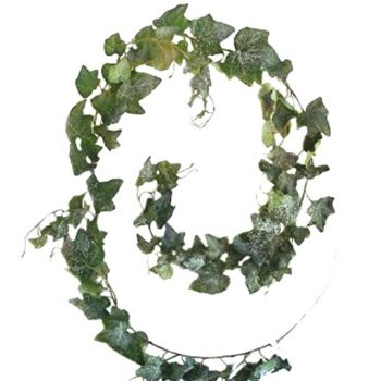 6ft Artificial Frosted Ivy Leaf Garland
