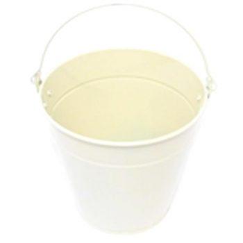 Cream Metal Flower Bucket