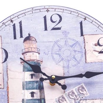 nautical wall clock with lighthouse design