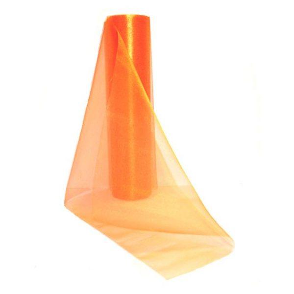 orange organza roll