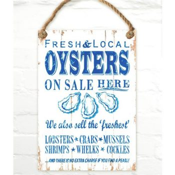 Nautical Oysters Sign