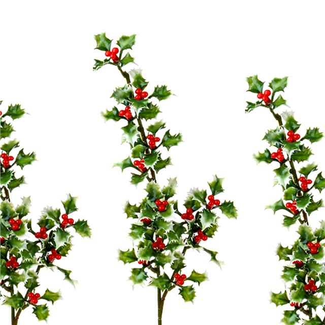 Pack Of 3 Artificial Holly Spray Mini Sprays With