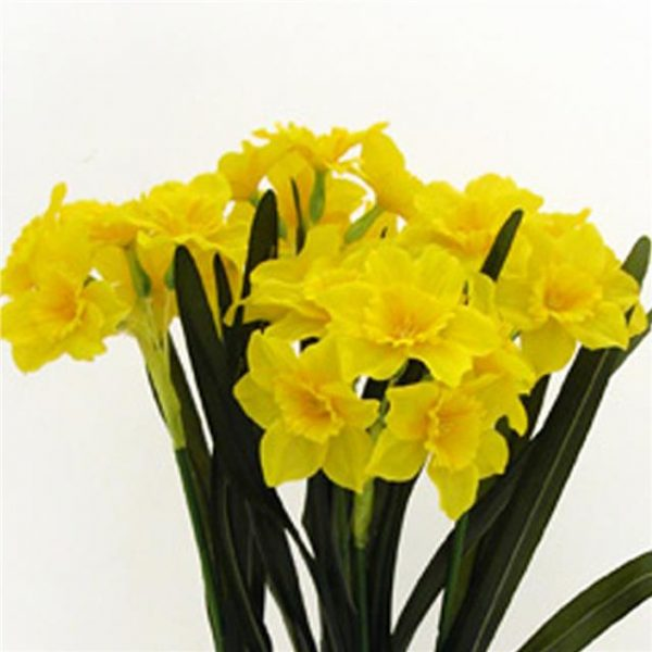 bright yellow artificial daffodils
