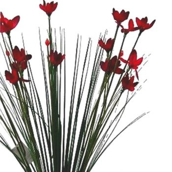 Artificial Red Star Flower Plant
