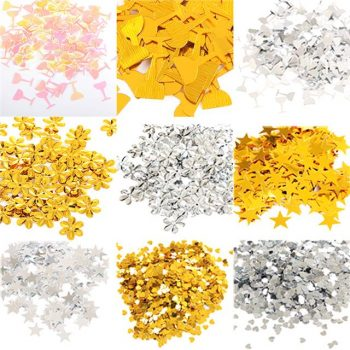 Gold Flower Table Confetti