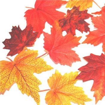 Set of Twelve Artificial Autumn Leaves