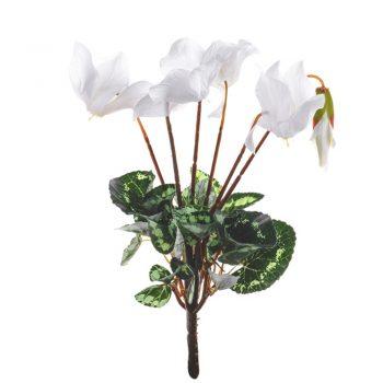 Artificial White Cyclamen Plant